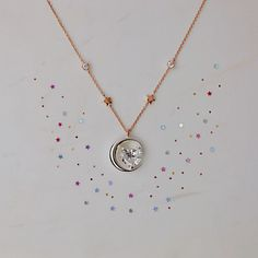 """""""Love you to the moon and back""""🌙✨ . . . . #mothersday #jewelry #necklace #heart #mom #gift #love #moon #star #loveyoutothemoonandback"""