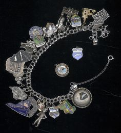 Everybody had a charm bracelet. I still have mine. Loved collecting state charms!!  Maine, Florida,Virginia