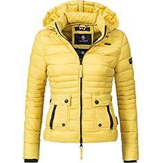 Navahoo Ladies Between-Seasons Puffer Jacket Lilly Yellow L Puffer Jackets, Winter Jackets, Camouflage, Outerwear Women, Cute Woman, Seasons, Yellow, Lady, Stuff To Buy