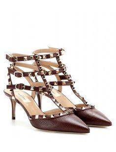 mytheresa.com - Rockstud leather kitten-heel pumps - Mid-heel - Pumps fd1672cd9