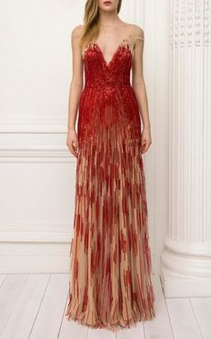 Hestia Ombre Sequin Gown by Jenny Packham Pre-Fall 2018