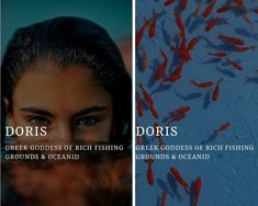doris (Δωρίς) - greek goddess of rich fishing grounds & an oceanid Greek Gods And Goddesses, Greek And Roman Mythology, Percy Jackson, Female Character Names, Goddess Names, Fantasy Names, Greek Names, Roman Gods, Pretty Names