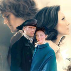 Outlander Fan Art, Outlander Series, Duncan Lacroix, Laura Donnelly, John Bell, Richard Rankin, Jamie And Claire, Caitriona Balfe, Diana Gabaldon