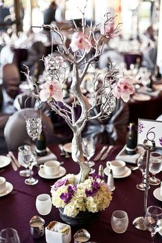 Centerpieces with trees