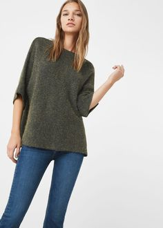 Dolman-sleeve sweater - Woman | MANGO United Kingdom
