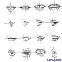How+to+Draw+Realistic+People   how to draw realistic lips, sketch lips step 10