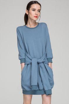 Trendy Women's Outfits : Sweater Tie Dress Super Cute Dresses, Cheap Dresses, Looks Style, Style Me, Streetwear, Fashion Designer, Budget Fashion, College Fashion, Tie Dress