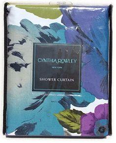 Cynthia Rowley Cotton Shower Curtain Floral Roses Flowers Design Turquoise Green Lilac Purple White 72-Inch by 72-Inch, http://www.amazon.com/dp/B00YNINDTK/ref=cm_sw_r_pi_awdm_FziFvb1KWBCFV
