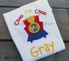 Custom Train Applique Shirt  Perfect for by EmmyLouChildrens, $23.00