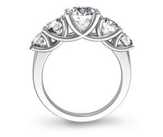 angle ring stone engagement five diamond trellis rings