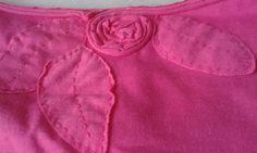 Camiseta de malha de algodão com aplicações do próprio tecido - 01/04