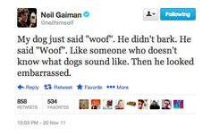 Humor: | 10 Twitter Gems From Neil Gaiman Before His Sabbatical