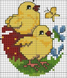 1180 best easter cross stitch embroidery images on: 118 best images about tutto schemi a Cross Stitch Bookmarks, Cross Stitch Cards, Cross Stitch Baby, Cross Stitch Kits, Counted Cross Stitch Patterns, Cross Stitch Designs, Cross Stitching, Cross Stitch Embroidery, Hand Embroidery