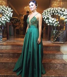 green prom dress,green evening dress,satin prom dress,ball gowns prom dress,prom dress Dresses Near Me Pageant Dresses For Teens, Prom Dresses 2018, Ball Gowns Prom, Sexy Dresses, Backless Dresses, Dresses 2016, Dresses Online, Green Evening Dress, Green Dress