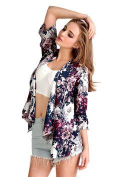 Vintage Floral #Kimono Coat