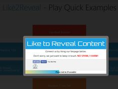 Like2Reveal: Facebook Like to Reveal Content