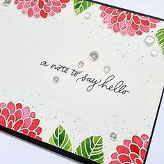 """92 Likes, 4 Comments - Marine Simon (@marine23simon) on Instagram: """"New card using the @simonsaysstamp July card kit stamp set """"Handwritten floral greetings"""", distress…"""""""
