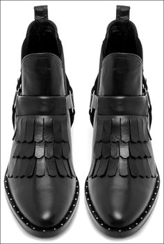 Shoe Crush: Freda Salvador Fringe Boots #shoes #fall #style #fashion