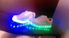 Couples colorful fluorescent usb charging led luminous shoes