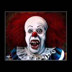 Print 11x4 Pennywise Clown Stephen King Horror by chuckhodi