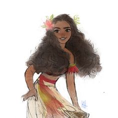 Moana by Katie Huon Moana Disney, Disney Pixar, Disney Animation, Walt Disney, Disney And Dreamworks, Disney Magic, Disney Characters, Disney Princess Art, Disney Fan Art