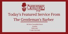 Today's featured cutting service at our Central #London #TGB #BarberShop - Wash & Cut - £27.  (Shampoo and Blow Dry included) Opening times: Mon-Wed 9am-7pm, Thu 9am-8pm, Fri 9am-7pm & Sat 10am-5pm. http://wu.to/10xQtM