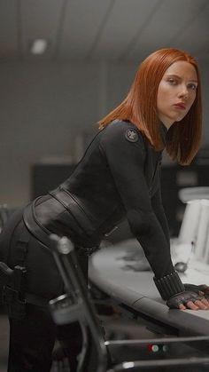 The Avengers Scarlett Johansson Black Widow Leather Jacket