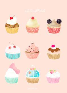 cupcake drawing - Google Search