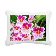 *SOLD* Many thanks to my customer! Cattleya White And Pink Orchids Rectangular Canvas> Blankets And Pillows> Daphsam's Amazing Flowers #pillow #orchids #cafepress $25.00 #homedecor