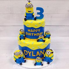 Birthday Minion Cake Boys 1st Brithday Party