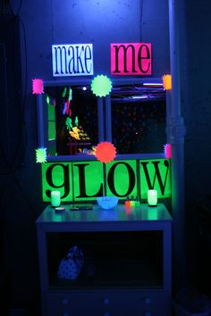 black light makeup table