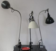 Early nikkeled 113 and 114 Lamps  Collection user