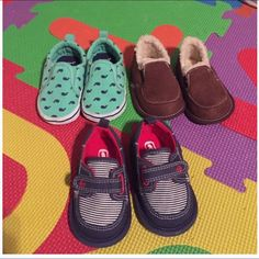 Baby Boy Shoe Bundle Size 3, barely worn, soft bottoms Carters Shoes