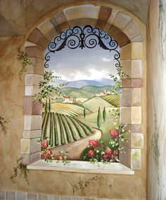 Tuscan Wall Murals | giordano italian landscapes wall murals mural in price size anywhere