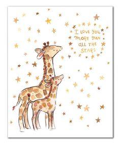 Love this 'I Love You' Giraffe Print on #zulily! #zulilyfinds