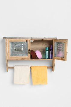 Lakeside Reclaimed Wood Towel Shelf  #UrbanOutfitters