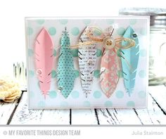 Accent It - Feathers & Arrows Die-namics, Blueprints Die-namics 13, Large Polka Dots Stencil - Julia Stainton  #mftstamps