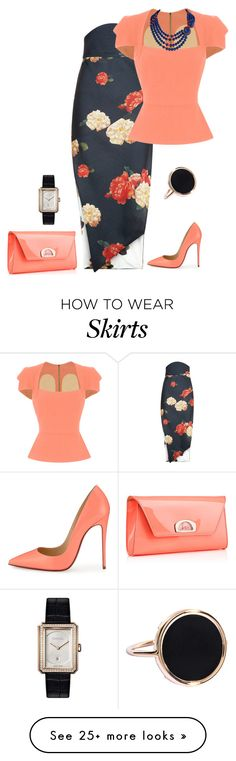 """outfit 3899"" by natalyag on Polyvore featuring A.W.A.K.E., Roland Mouret, Christian Louboutin, Ginette NY and Chanel"