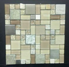 Kitchen backsplash. Love mixing texture and color