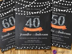 Adult Birthday Invitation for Woman. Surprise by ByDesignDen