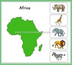 Montessori Animal Continents Activity Sheets