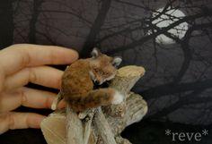 Miniature Red Fox * Handmade Sculpture * by ReveMiniatures.deviantart.com on @deviantART