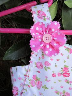 Pink Floral DressSize 18 mo by gumdroptree on Etsy