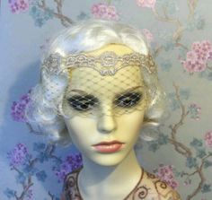 Flappers wedding veil