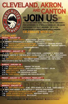 "Deschutes Brewery Event Poster - Cleveland   www.LiquorList.com ""The Marketplace for Adults with Taste!"" @LiquorListcom   #LiquorList"