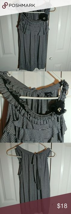 💝Fashionable Striped Top Super cute, super soft, polyester, rayon, spandex material. Rue21 Tops Tank Tops
