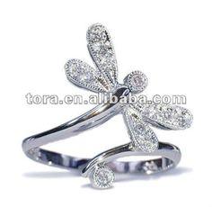 diamante de la moda libélula compromiso de boda anillos-Joyería Aleación Zinc-Identificación del producto:529985719-spanish.alibaba.com