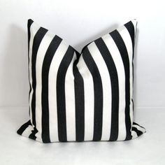 Black White Stripe Pillow Cover   Modern Outdoor by Mazizmuse