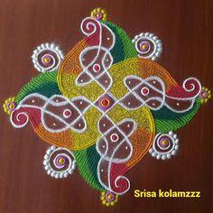 Ideas for flowers painting acrylic simple beautiful 3d Rangoli, Rangoli Patterns, Rangoli Ideas, Rangoli Designs Diwali, Rangoli Designs Images, Flower Rangoli, Beautiful Rangoli Designs, Indian Rangoli, Free Hand Rangoli Design