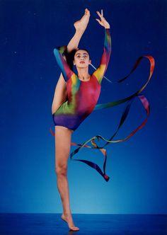 Ribbons for acrobatics Rhythmic-gymnasts.